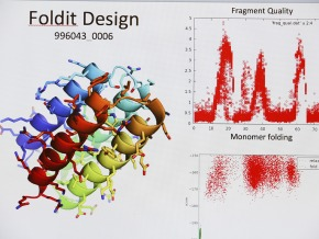 Foldit is a protein molecule modeling program used by citizen scientists worldwide to contribute to protein design research. Credit: University of Washington Institute for Protein Design