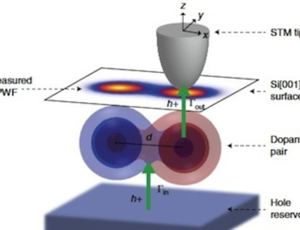 Simulation of quantum entanglement with subsurface dopant atoms