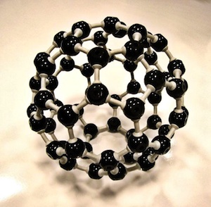 A buckyball, a sphere-like molecule composed of 60 carbon atoms shaped like a soccer ball. (Image credit: St Stev via Foter.com / CC BY-NC-ND)